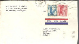 LETTER 1955   KALAMAZOO TO CUBA - Covers & Documents