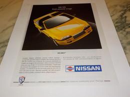 ANCIENNE PUBLICITE 100NX DE NISSAN 1991 - Cars