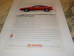 ANCIENNE PUBLICITE COUPE CELICA DE  TOYOTA  1991 - Cars