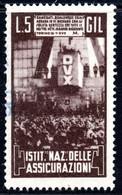 443.ITALY.WW II,FASCIST PERIOD,5 L.NATIONAL INSURANCE REVENUE.TORINO - Marcophilia