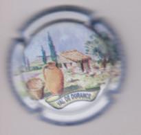 Capsule Champagne MOUGIN Laurent { N°35 : ASSO.PLACO. Val De Durance 2014, Contour Bleu Clair } {S42-21} - Non Classificati