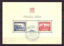 Tsjechoslowakije / Czechoslovakia Block 1 FDC Used (1938) - Used Stamps