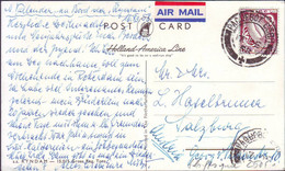 IRELAND - PAQUEBOT  SS RYNDAM  AMERICA LINE -  Wmk INVERT. - 1958 - Covers & Documents
