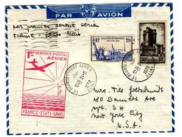 53020 A - Vol FRANCE  ETATS UNIS - Eerste Vluchten