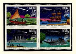 Espace 1985 Palaos - Palau - Miconésie Y&T N°83 à 86 - Michel N°97 à 100 *** - Comète De Halley - Oceania