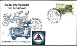 MATSELLOS  1983  BARCELONA TEMA AUTO - 1981-90 Storia Postale