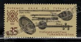 Turkmenistan 1992 Yvert 7, Music. Folklore. Assorted Instruments - MNH - Turkmenistan