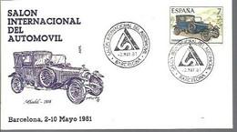 MATSELLOS  1981  BARCELONA TEMA AUTO - 1981-90 Storia Postale