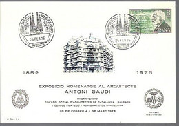 MATSELLOS  1975  ANTONI GAUDI - 1971-80 Storia Postale
