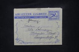AFRIQUE DU SUD - Aérogramme Pour L 'Allemagne En 1953 - L 108890 - Covers & Documents