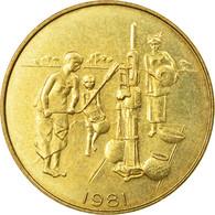 Monnaie, West African States, 10 Francs, 1981, Paris, TTB, Aluminum-Bronze - Elfenbeinküste
