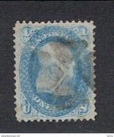 U.S.A. -  EMISSIONI  GENERALI:  1861  B. FRANKLIN  -  1 C. BLU  US. -  YV/TELL. 18 - Used Stamps