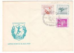 Allemagne - République Démocratique - Lettre De 1959 - Oblit  Berlin - Fête Gymnastique-sport à Leipzig - Pli Accordeon - Briefe U. Dokumente