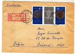 Allemagne - République Démocratique - Lettre Recom De 1970 - Oblit Berlin - Monnaies - Valeur 25 Euros - Briefe U. Dokumente
