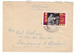 Allemagne - République Démocratique - Lettre 20 Ans De SED - Fleurs - Briefe U. Dokumente