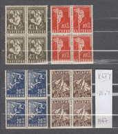 0674 K / Bulgaria 1947 Michel Nr.611/614 - Postman Radio Towers Lineman Telephone Operators **MNH / Postbeamte Bulgarie - Ungebraucht