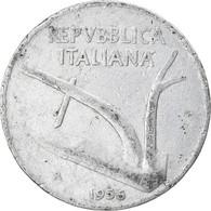 Monnaie, Italie, 10 Lire, 1956, Rome, TB, Aluminium, KM:93 - 10 Lire