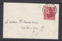 Belgique - Lettre Petit Format De 1919 - Oblit Gent - Exp Vers Gent - Roi Albert 1er - - 1915-1920 Albert I