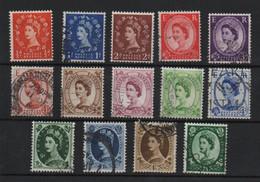 Lot 23 Grande Bretagne Elisabeth 1953 1954 Wilding - Used Stamps