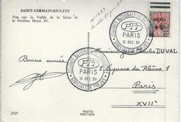 Sinistrés De Frejus-surcharge-sur Cp St-germain En Laye - Gedenkstempels
