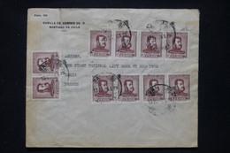 CHILI - Enveloppe Commerciale De Santiago Du Chili Pour Paris En 1956 - L 108912 - Chile