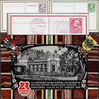 Autriche-Hongrie 1909. 3 Entiers Timbrés Sur Commande. Karlovy Vary, Karlsbad, Thermalisme, Art Nouveau, Sel - Thermalisme
