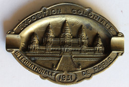 Cendrier Souvenir De L'exposition Coloniale Internationale De Paris En 1931 - Autres