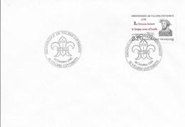 AISNE 02 - VILLIERS COTTERETS -  ORDONNANCE VILLIERS C OTTERETS - TIMBRE N° 2609   -  SEUL/LETTRE -  1ER JOUR - Gedenkstempels