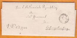 1863 - Lettre Pliée Avec Correspondance De REGENSBURG Ratisbonne - Correspondance Religieuse Ordinariat - Bavaria