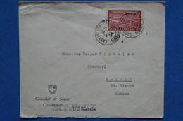 AD11 MAROC  BELLE LETTRE   1934 CASABLANCA  POUR MOLLIS SUISSE +AEROPHILATELIE  + AFFRANCH. INTERESSANT - Covers & Documents