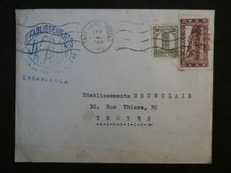 AD11 MAROC  BELLE LETTRE   1948 CASABLANCA  POUR  TROYES  FRANCE  + AFFRANCH. INTERESSANT - Covers & Documents
