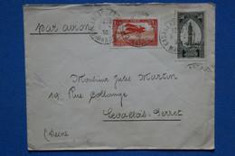 AD11 MAROC  BELLE LETTRE   1930 CASABLANCA  POUR  LEVALLOIS  FRANCE  + AFFRANCH. INTERESSANT - Airmail