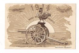 PATRIOTIQUE ILLUSTREE L'ARTILLERIE DU DIABLE - CANON 75 - 1914 - COQ - - Patriottiche