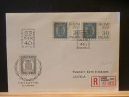 95/636 LETTRE RECOMM. FINLANDE   1960 - Briefe U. Dokumente