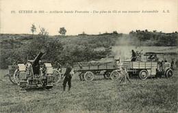 Militaria * Artillerie Lourde Française * Une Pièce De 155 Et Son Tracteur Automobile * Véhicule * Canon - Materiale
