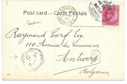 Postcard Sea-Post-Office BOMBAY-ADEN 1908. - 1902-11 King Edward VII