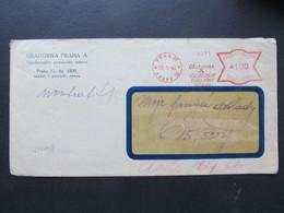 BRIEF Frankotype Postfreistempel Praha Uradovna A 1940 //  C6778 - Briefe U. Dokumente