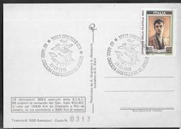 """ANNULLO SPECIALE """"ORBETELLO (GR)*17.12.1990*60° ANN. CROCIERA ORBETELLO-RIO DE JANEIRO"""" SU CARTOLINA MANIFESTAZIONE - 1981-90: Storia Postale"""
