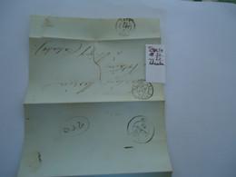 FRANCE COVER  LETTER  1843  POSTMARK GAEN   RUEI   SCAN - Unclassified