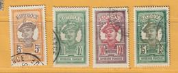 Timbre Martinique N° 92 - 93 - 94 - 95 - Gebraucht