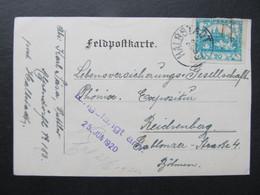 KARTE Hradcany Einkreisstempel Halbstadt Mezimesti 1920 //  C6756 - Covers & Documents