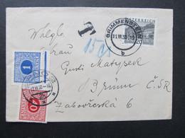 BRIEF Doplatni Grimmenstein Brno 1930 //  C6752 - Covers & Documents