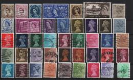 Lot 30 Grande Bretagne Elisabeth 42 Timbres Différents - Used Stamps