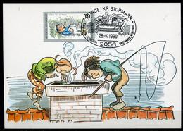 """Maximum Card Germany 1990 Mi.Nr.1456 Maxicard""""125 Jahre Max Und Moritz Von Wilhelm Busch""""mit SST""""Clinde """" 1 MC - Fiabe, Racconti Popolari & Leggende"""