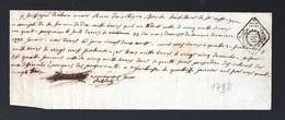 Saint Affrique  (12 Aveyron) Reçu Avec Cachet De Notaire 1793  (PPP32554) - Zonder Classificatie