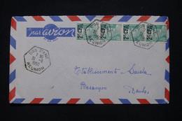 RÉUNION - Enveloppe De Dos D'Ane Pour La France En 1950, Affranchissement Gandon Surchargé CFA - L 108952 - Lettres & Documents