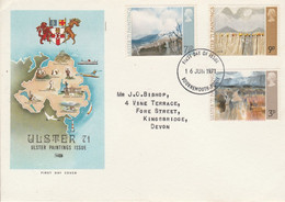 GB LETTRE FDC 1971 PEINTURES DE L'ULSTER - 1952-1971 Pre-Decimal Issues