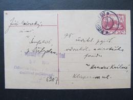 GANZSACHE Pribyslav - Hradec Kralove Senfeld Zizkovo Pole 1919  //  C6740 - Covers & Documents