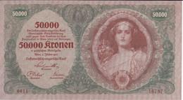 BILLETE DE AUSTRIA DE 50000 KRONEN DEL AÑO 1922  (BANK NOTE) (RARO) - Austria