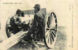 Militaria * Artillerie Française * Pièce De 75 Attendant L'ordre De Feu * Canon Armement * Campagne 1914 Ww1 War - Materiale